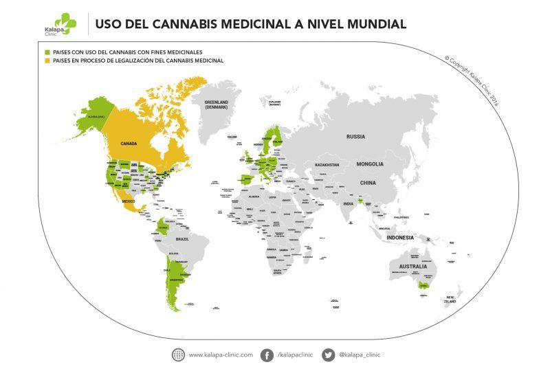 Cannabis medicinal en los países | Kalapa Clinic